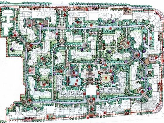 [福建]北美新古典主义泛会所主题小区景观扩初设计方案(知名设计所)