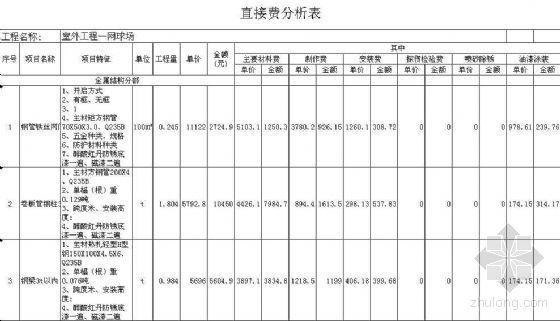 天津某钢结构工程清单报价书(厂房、办公楼、室外)