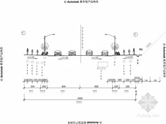 [山东]市政道路管网工程设计图85张(给水雨污水热力管 路灯绿化)