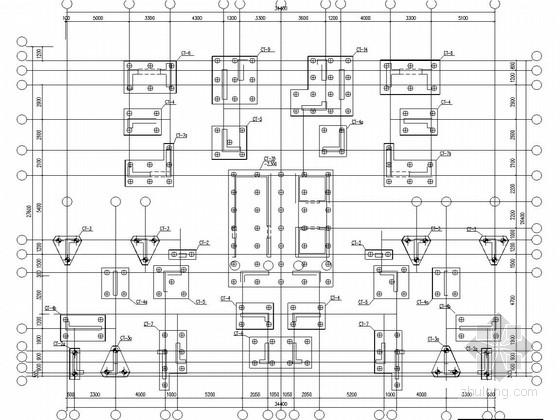 17层剪力墙结构顶层复式住宅结构施工图(预应力管桩)