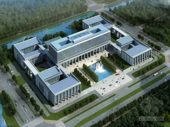 [江苏]CBD地块院落式行政办公楼建筑设计方案文本(多种方案)