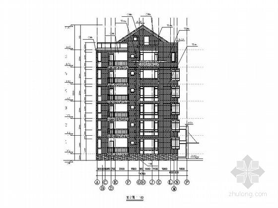 [浙江]六层住宅楼建筑施工图(2栋楼 含效果图)