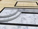 求教:室内错层客厅圆弧台阶如何处理?