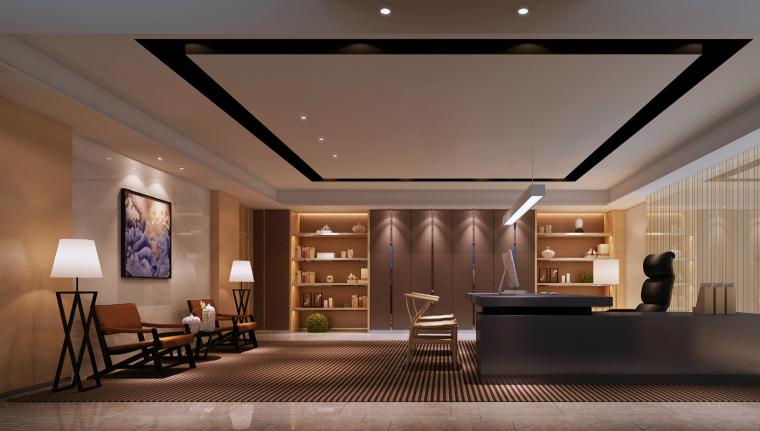 凯隆办公室混搭风格室内设计施工图(含46张图纸)_6