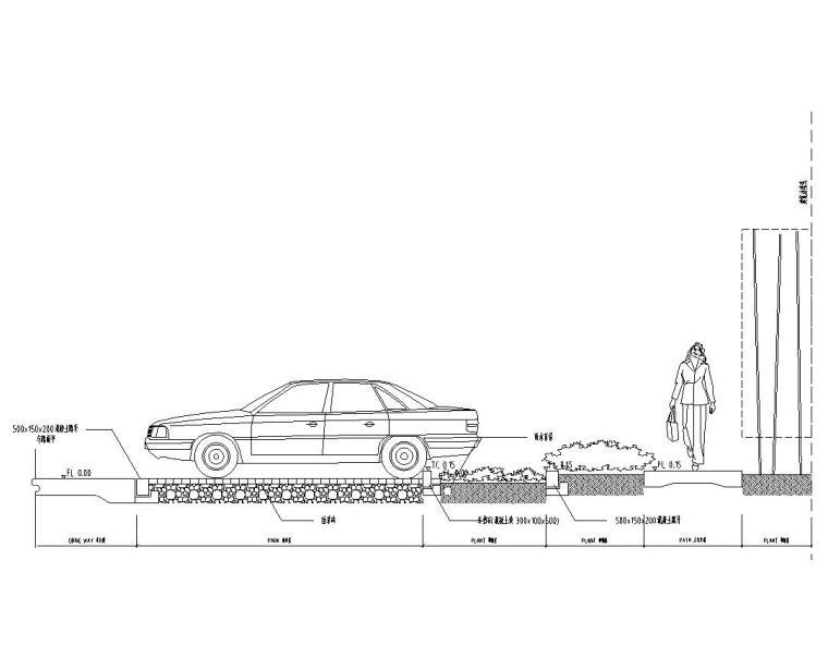 停车场剖面图