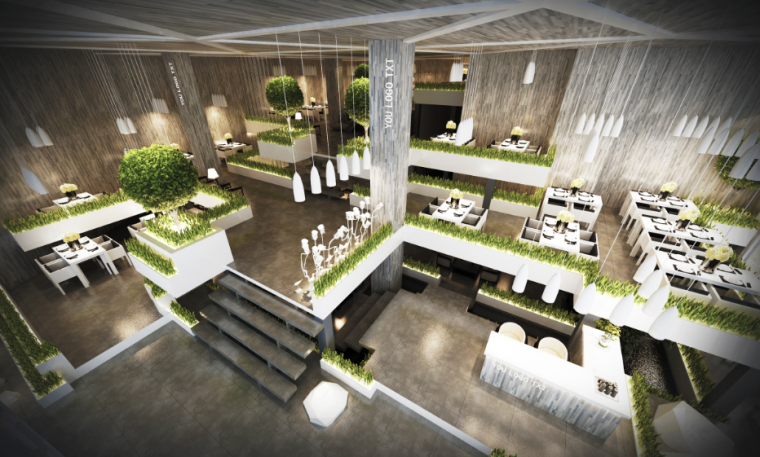 [广东]取自自然,用之自然餐馆室内设计方案
