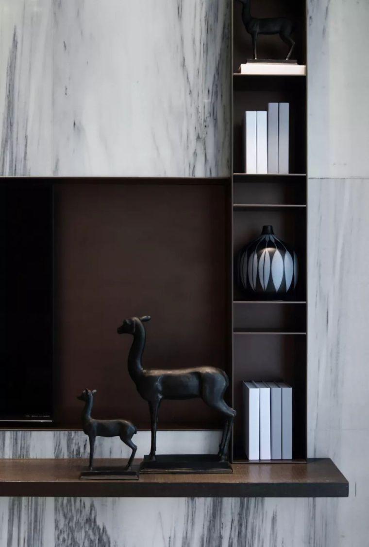 看看这两套样板房设计,用黑白灰勾勒出的简约风_45