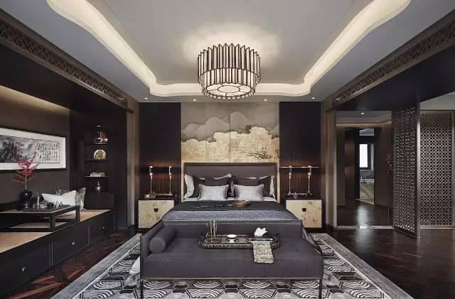 30个新中式卧室设计方案,让你在诗情画意中沉睡