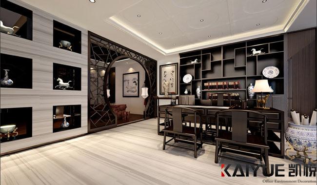 中式风格办公室装修设计-美时美刻生物科技_4
