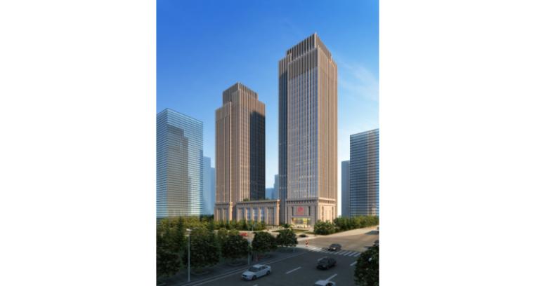 [重庆]新闻传媒中心一期工程塔楼4F入口大厅高大模板支架安全专项施工方案(90页,图文丰富)