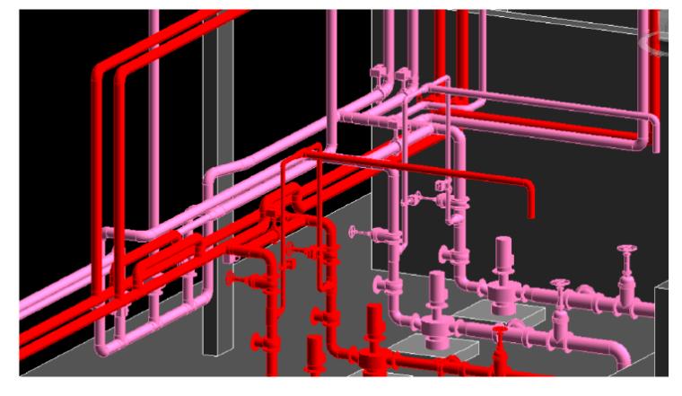 消防泵房BIM效果图