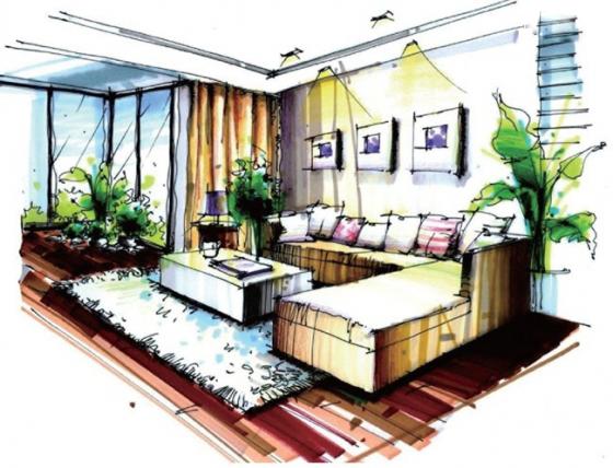 超详细室内设计手绘快速表现技法!
