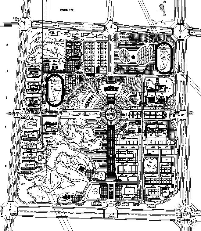 [合集]校园绿地景观规划设计CAD平面图41套_1