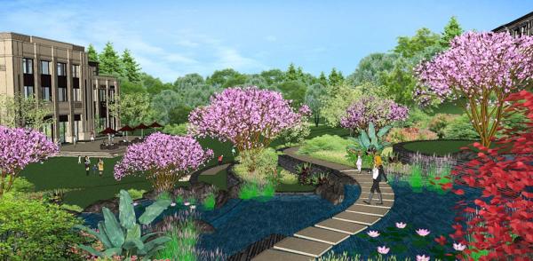 林山脚下全套宜居生态图纸景观设计图纸大盘(别墅高架桥视频图片