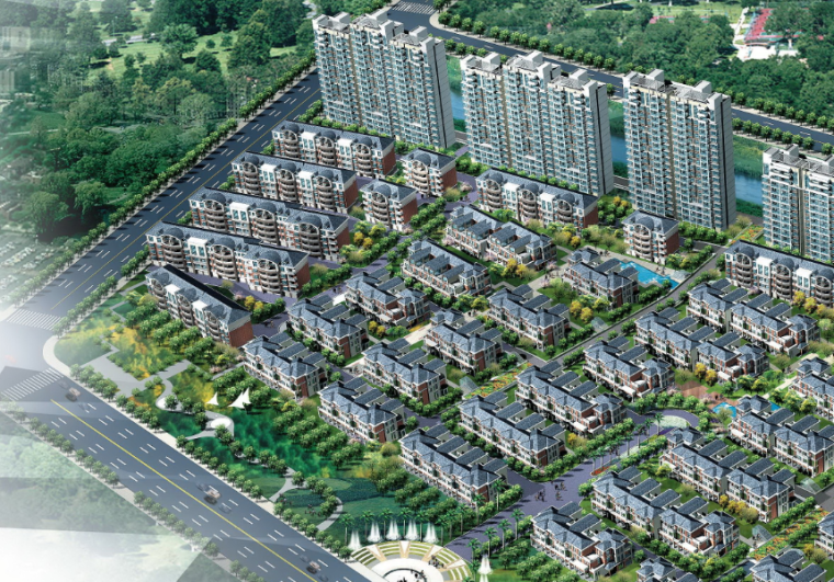 [上海]昆山花桥商业住宅小区建筑方案文本