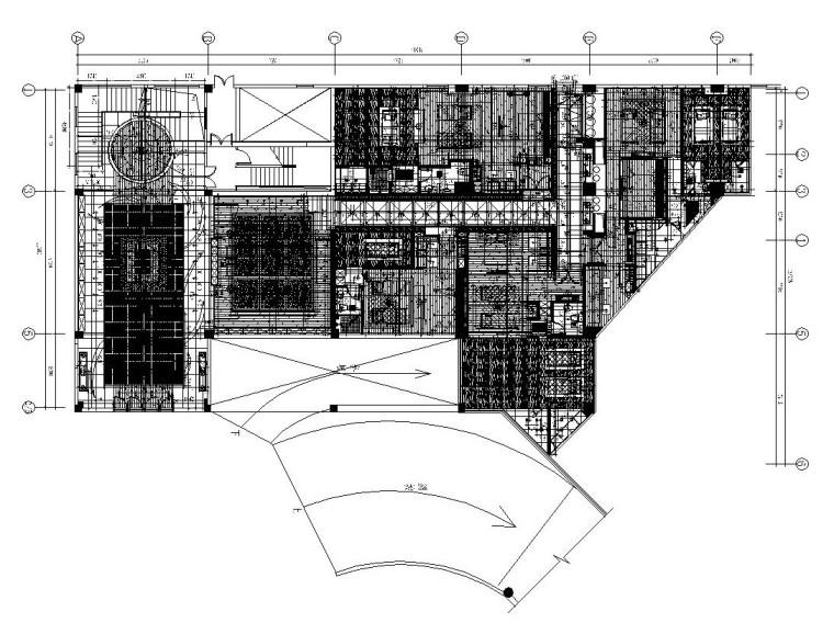 [福建]福州某大型酒店内部装修全套施工图(附高清效果图)