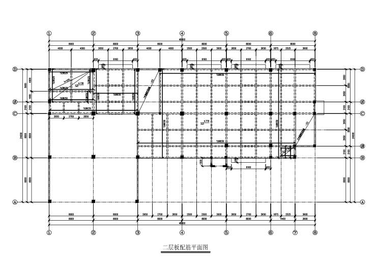 5层框架办公楼结构施工图(CAD、20张)