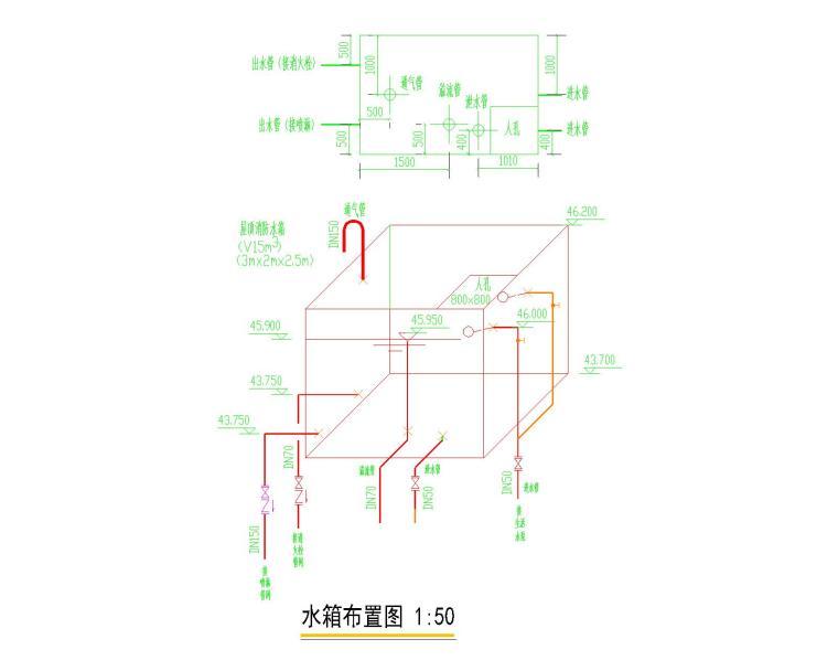 [山东]青岛某高层建筑给排水图集(含生活给水管道、排水管道、消防管道系统设计)_6