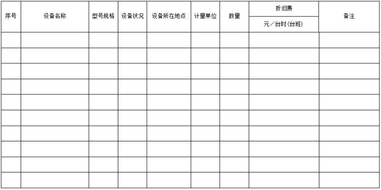 江苏省水利工程招标、投标文件工程量清单格式