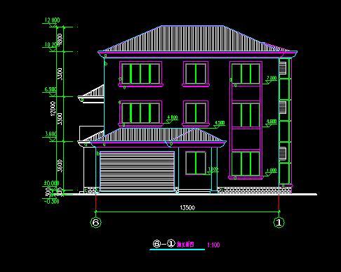 经典别墅建筑图纸_2