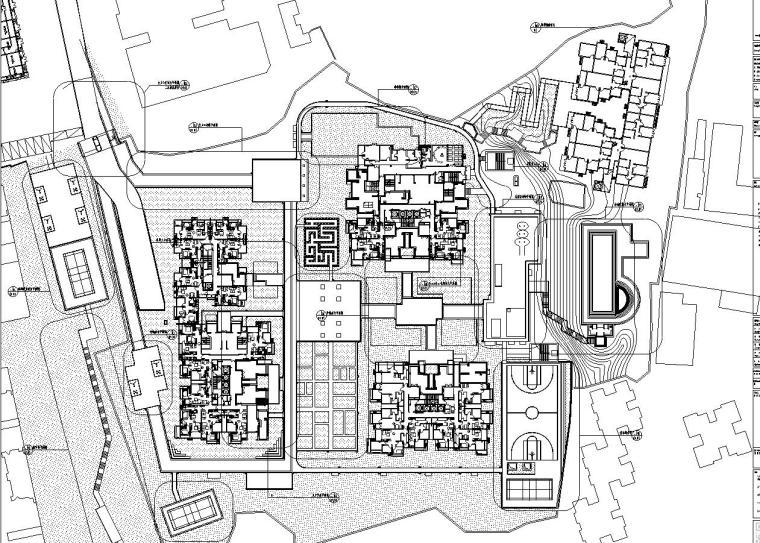 [西九]某居住区景观设计全套施工图(包含+60个CAD)-索引图
