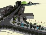 瓷器口大街商业建筑SU模型