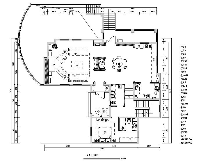 [山东]原香溪谷别墅样板间设计施工图(附效果图)