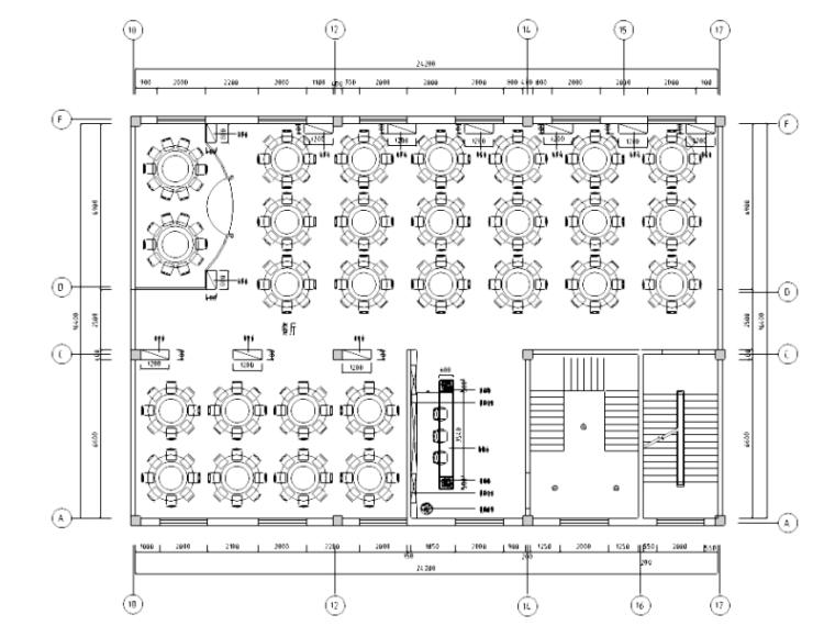 [内蒙古]现代简约风格餐厅室内装修施工图