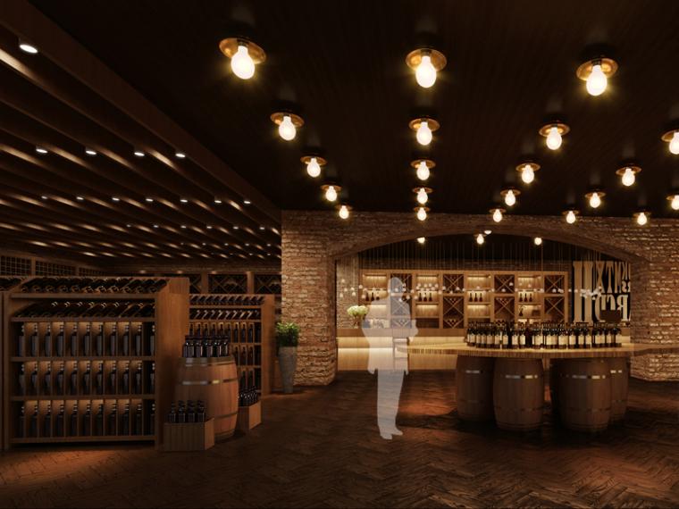 红酒摆放区3D模型下载