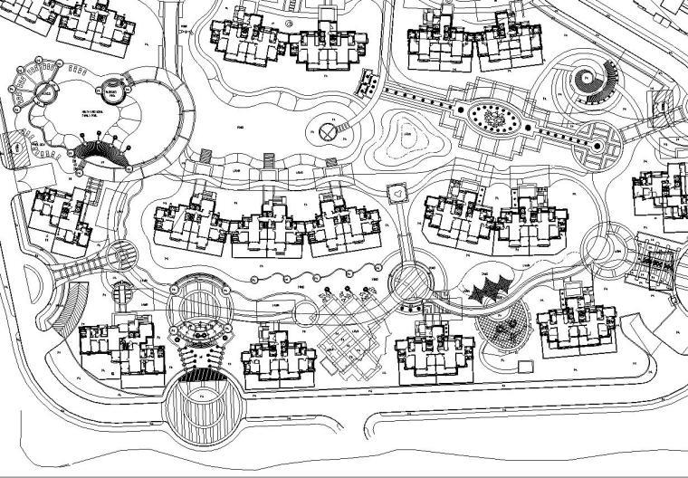 [上海]某生态绿洲长岛居住区全套施工图设计
