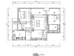 午后时光田园风二居室住宅设计施工图(附效果图)