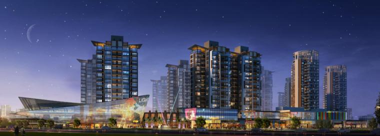[河南]郑州西流湖生态智慧新城城市设计(滨水)C-1效果图