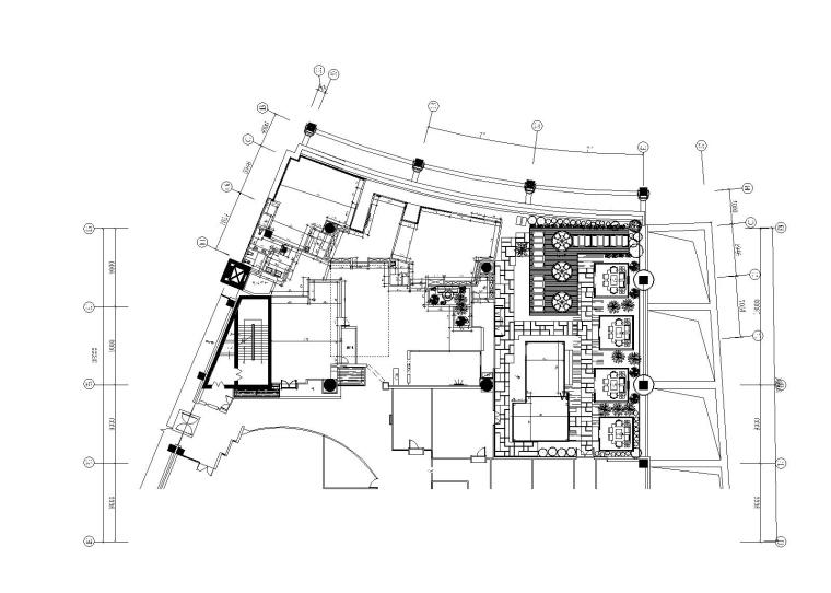 混搭风格茶餐厅室内装修全套施工图附效果图