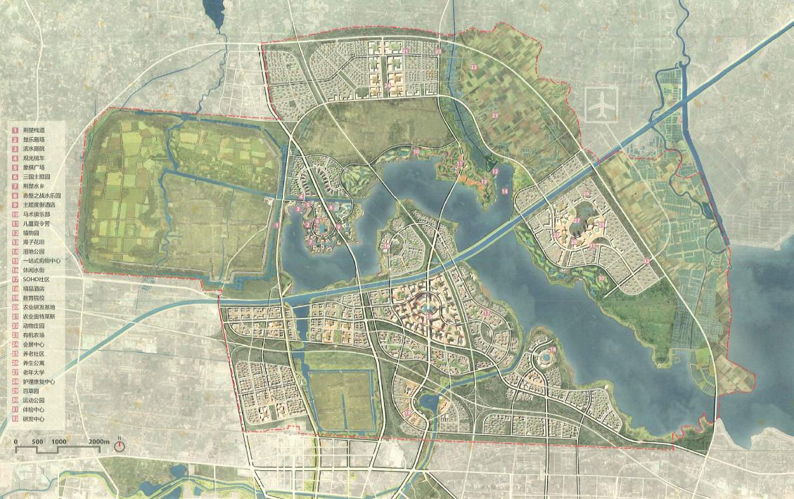 [湖北]aecom荊州市紀南新區文化旅游城市規劃設計方案圖片