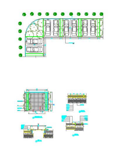 分享四个停车场地施工图