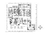 新中式样板房设计CAD施工图(含效果图)