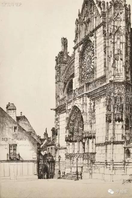百年经典建筑设计手绘图_18