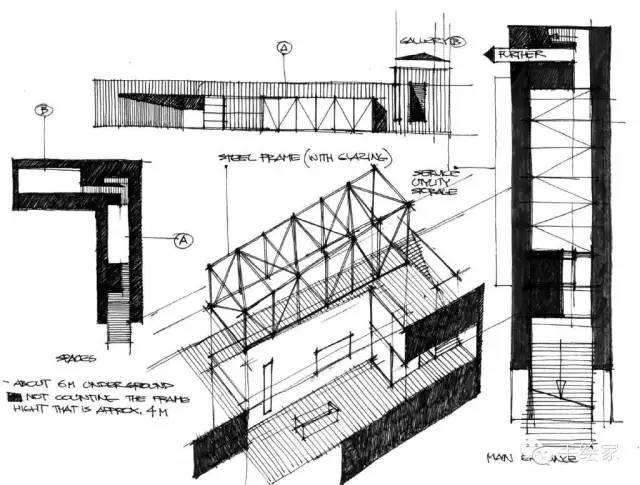 百年经典建筑设计手绘图_29