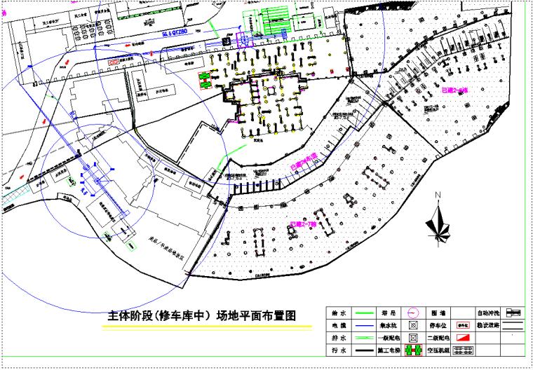 [重庆]龙湖·春森彼岸四期工程施工现场总平面布置方案