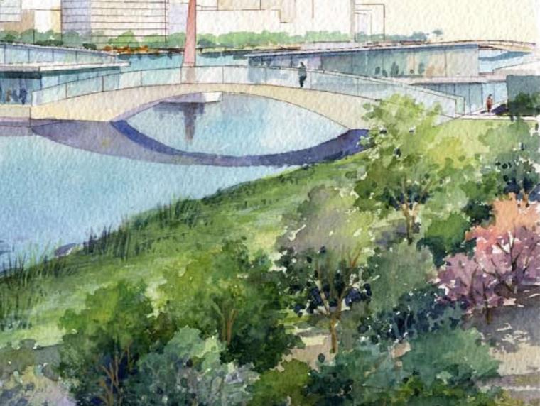 [浙江]杭州国际商务城核心区中央公园景观方案深化设计(高效)