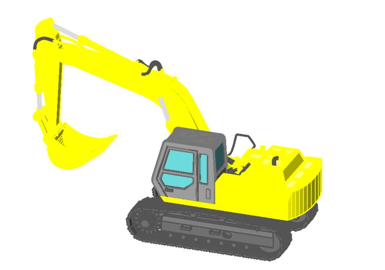 bim族庫-revit族文件-挖掘機