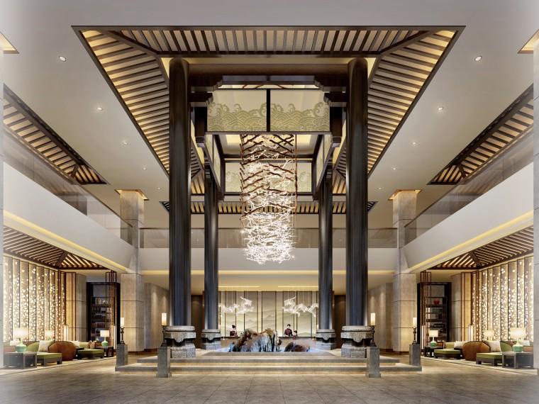 新中式风格镁都国际酒店概念设计方案