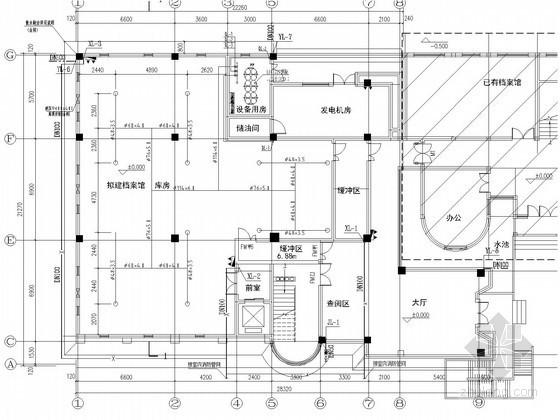 [浙江]四层档案馆给排水消防施工图(七氟丙烷气体灭火)