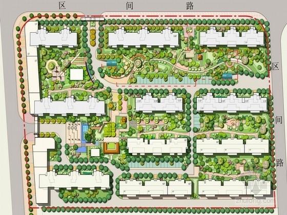 """[安徽]""""吉祥""""主题现代中式风格居住区景观规划设计方案"""