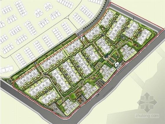 [重庆]欧式风格高档居住区景观设计方案