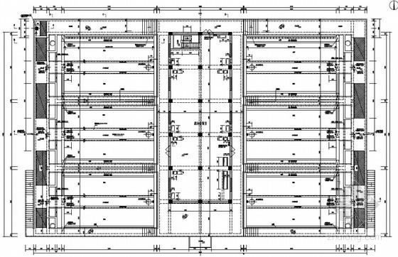 [宁夏]知名大型污水处理厂V型滤池工艺设计图(国内顶级设计院)
