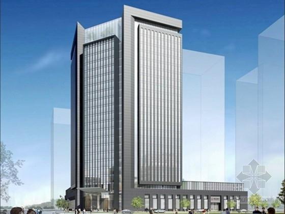 [江苏]24层框架核心筒结构金融大厦结构图(99米)