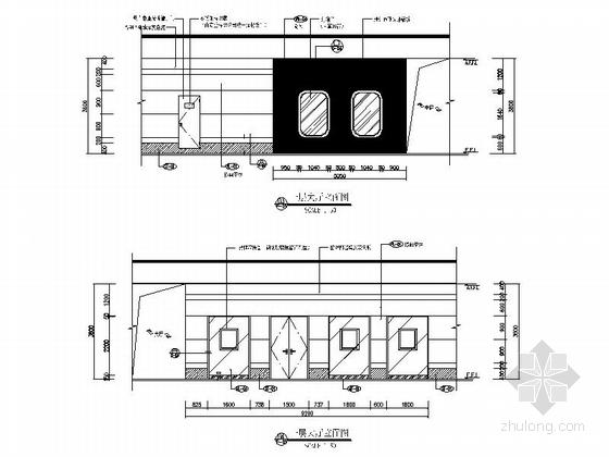 [广西]繁华中心区儿童少年活动中心教育机构设计施工图大厅立面图