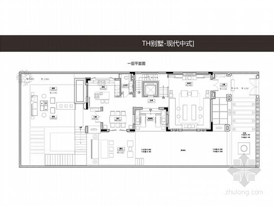 [广州]清现代新中式别墅软装设计方案