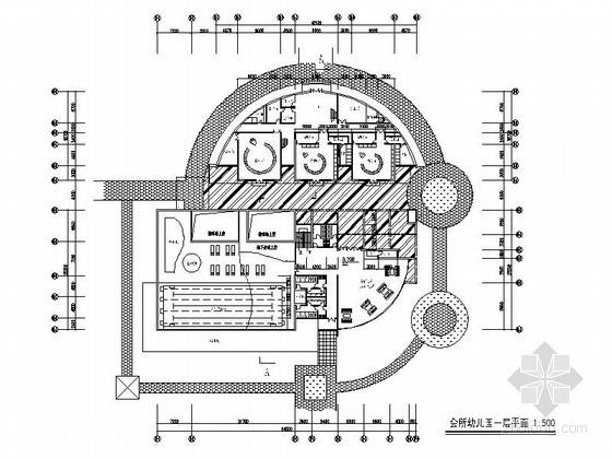 [郑州]某二层会所兼四班幼儿园建筑方案图